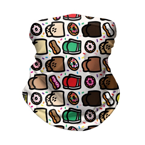 Donuts and Butts Pattern Neck Gaiter