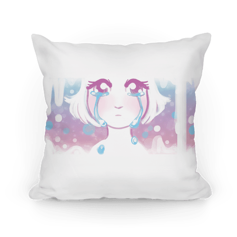 Anime Girl Tears Pillow