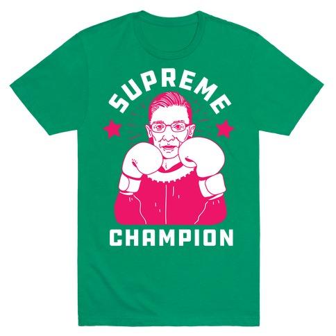 867334ef Supreme Champion RBG T-Shirt | LookHUMAN