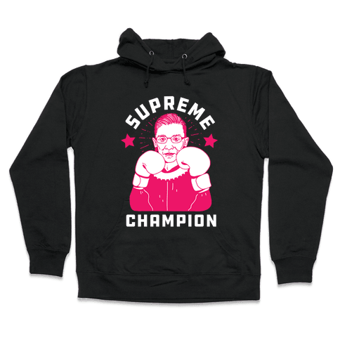 Supreme Champion RBG Hooded Sweatshirt