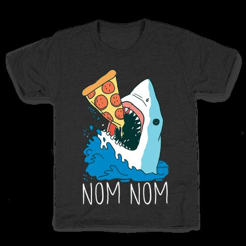 Nom Nom Pizza Shirt Kids T-Shirt