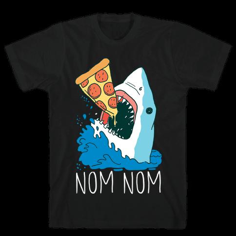 Nom Nom Pizza Shirt Mens T-Shirt