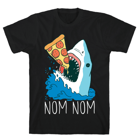 Nom Nom Pizza Shirt Mens T-Shirt