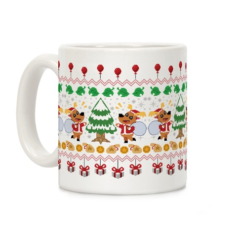 Jingle Deer Ugly Sweater Coffee Mug