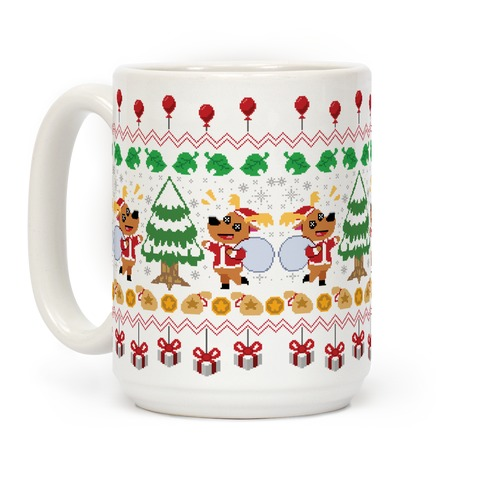 Jingle Animal Crossing Ugly Sweater Coffee Mug