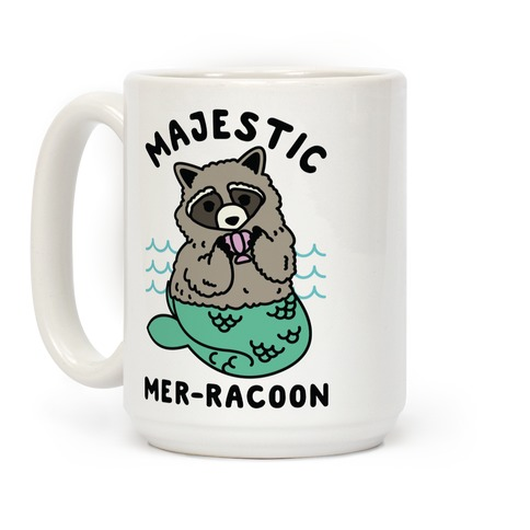 Mer-Trash Raccoon Coffee Mug