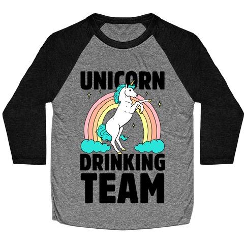 Unicorn Drinking Team Baseball Tee