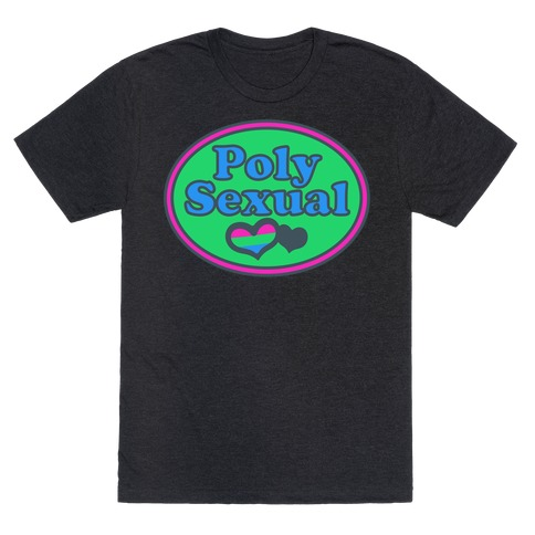 Polysexual Pride Pocket Parody White Print T-Shirt