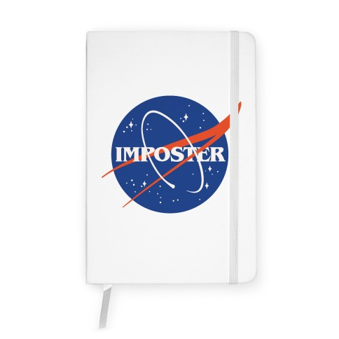 Imposter Nasa Logo Parody Notebook