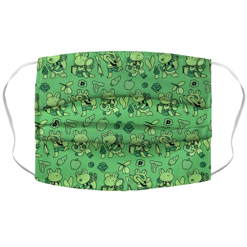 Forage Frogs Accordion Face Mask