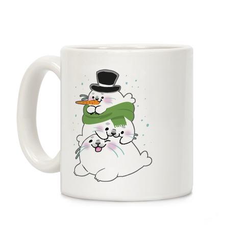 Seal Stack Snowman Coffee Mug