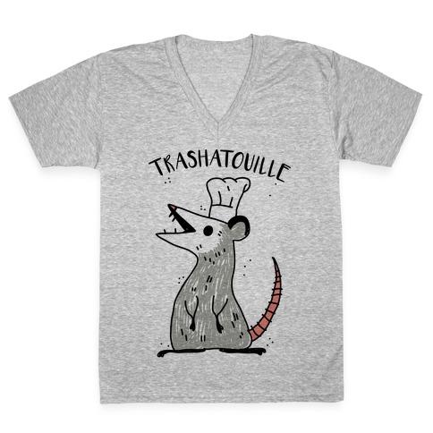 Trashatouille V-Neck Tee Shirt