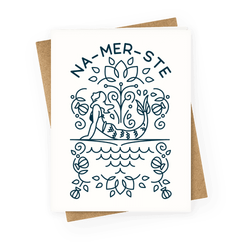 Na-Mer-Ste Mermaid Yoga Greeting Card