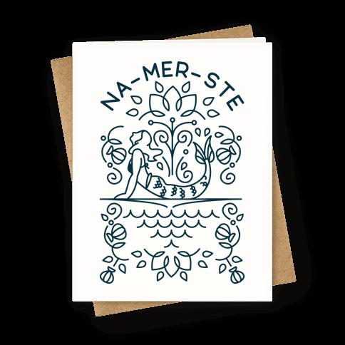 Na-Mer-Ste Mermaid Yoga Greeting Card