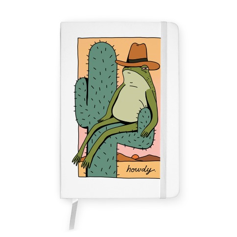 Howdy Frog Cowboy Notebook