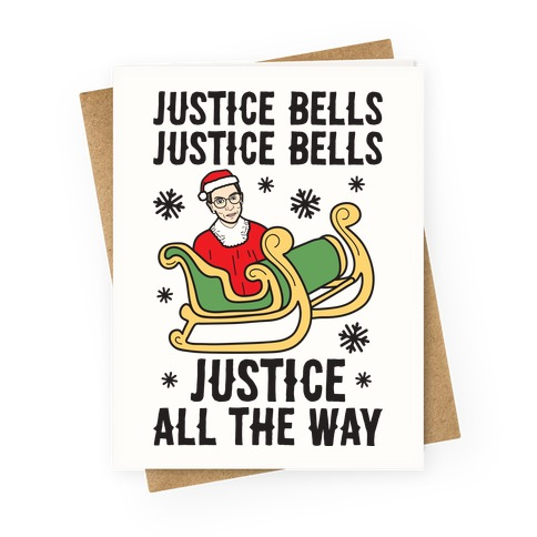 Justice Bells RBG Greeting Card