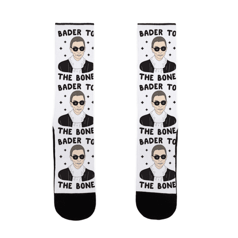 Bader To The Bone RBG Sock