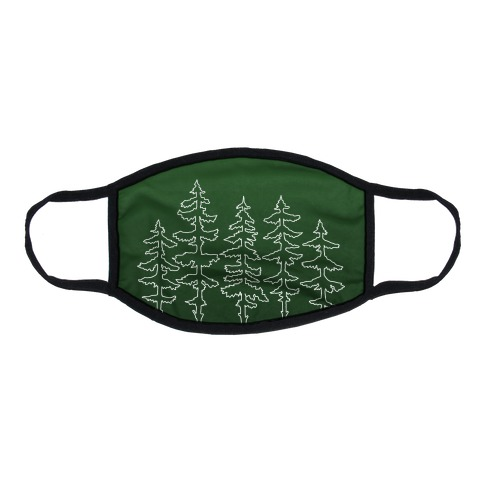 Evergreen Pines Gradient Flat Face Mask