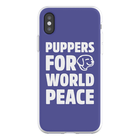 Puppers For World Peace Phone Flexi-Case