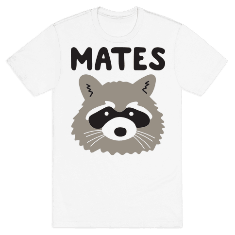 Trash Mates Pair - Raccoon 2/2 Mens T-Shirt