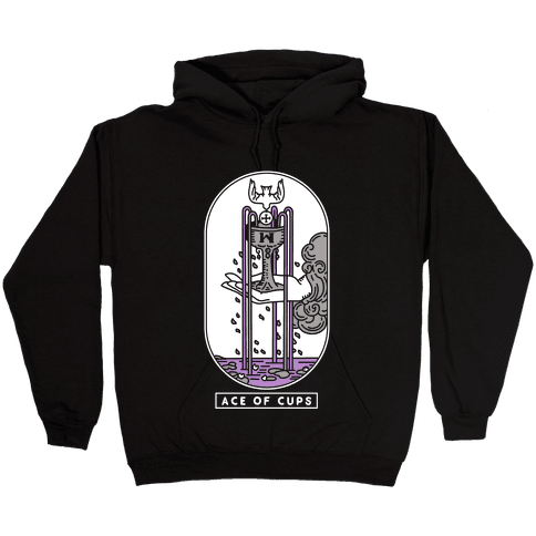 Ace of Cups Asexual Pride Hooded Sweatshirt