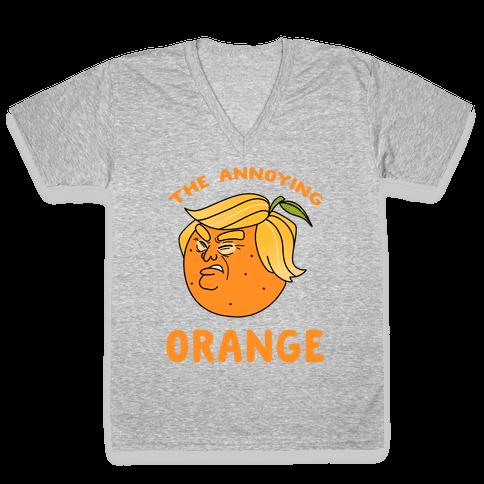 The Annoying Orange V-Neck Tee Shirt