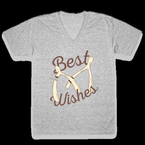 Best Wishes V-Neck Tee Shirt