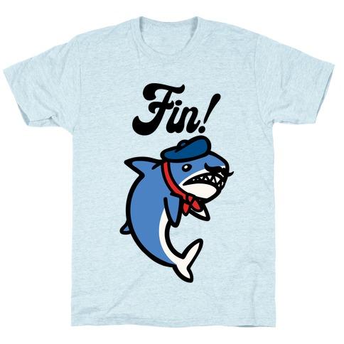 Fin French Shark Parody T-Shirt