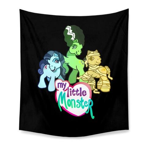 My Little Monster Pony Tapestry