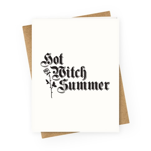 Hot Witch Summer Greeting Card