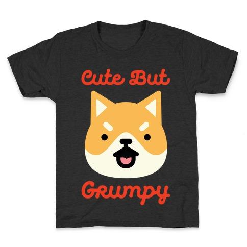 Cute but Grumpy Shiba Inu Kids T-Shirt