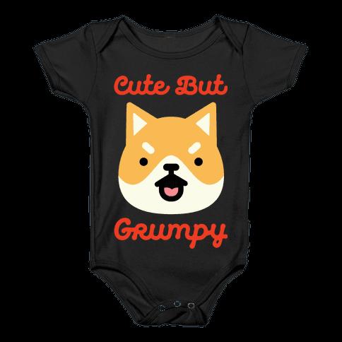 Cute but Grumpy Shiba Inu Baby Onesy