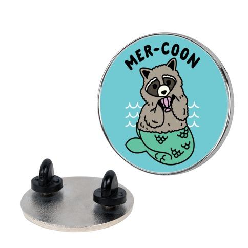 Mer-Trash Raccoon pin