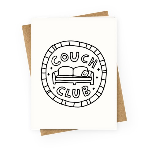 Couch Club Membership Badge Greeting Card
