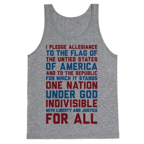 Pledge Of Allegiance  Tank Top