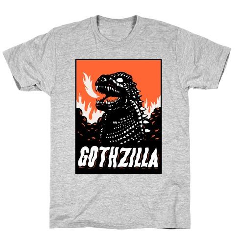 Gothzilla Goth Godzilla T-Shirt