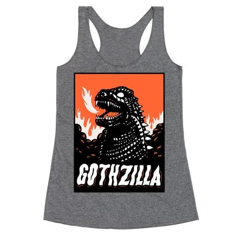 Gothzilla Goth Godzilla Racerback Tank Top