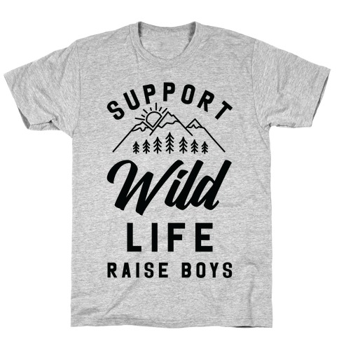 Support Wild Life Raise Boys T-Shirt