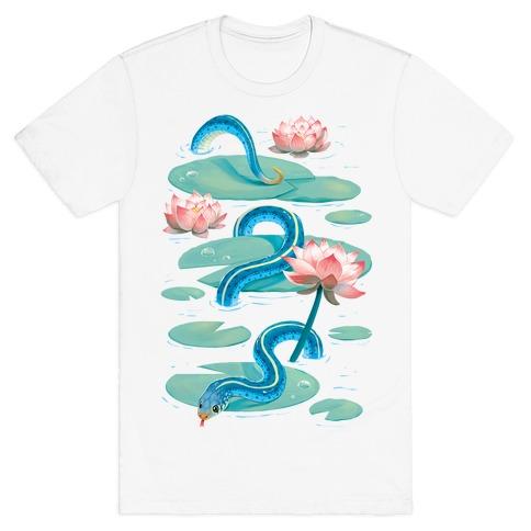 Garter Among Lily Pads T-Shirt
