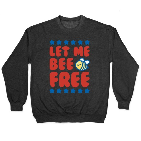 Let Me Be Free White Print Pullover