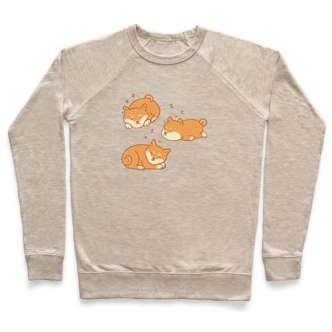 Sleepy Shibe Pattern Pullover