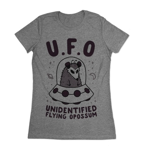 Unidentified Flying Opossum Womens T-Shirt