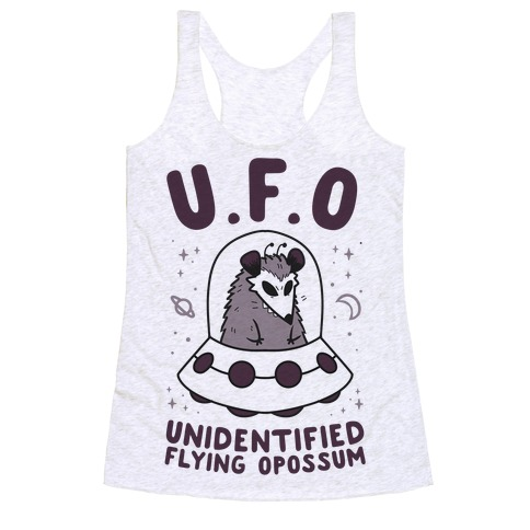 Unidentified Flying Opossum Racerback Tank Top