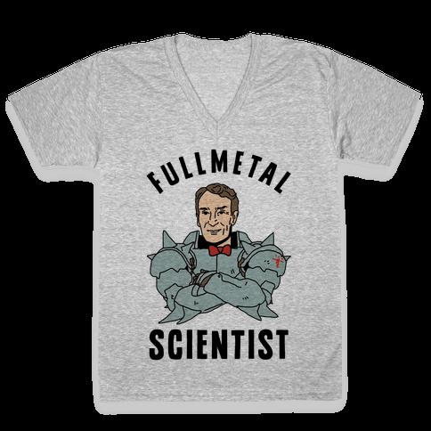 Fullmetal Scientist V-Neck Tee Shirt
