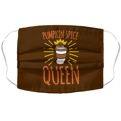 Pumpkin Spice Queen Accordion Face Mask