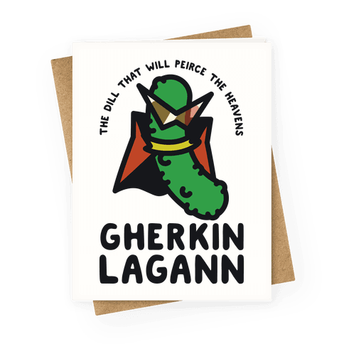 Gherkin Lagann Greeting Card