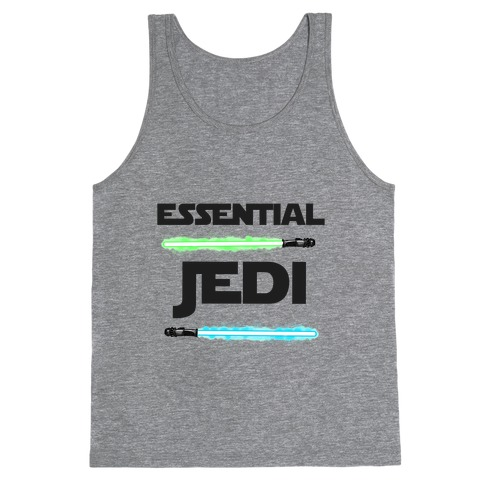 Essential Jedi Parody Lightsaber Tank Top