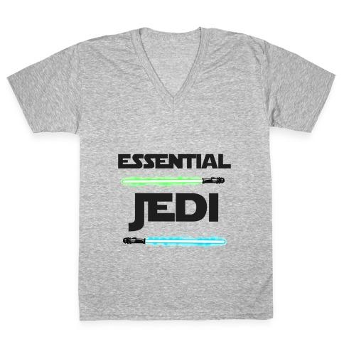 Essential Jedi Parody Lightsaber V-Neck Tee Shirt