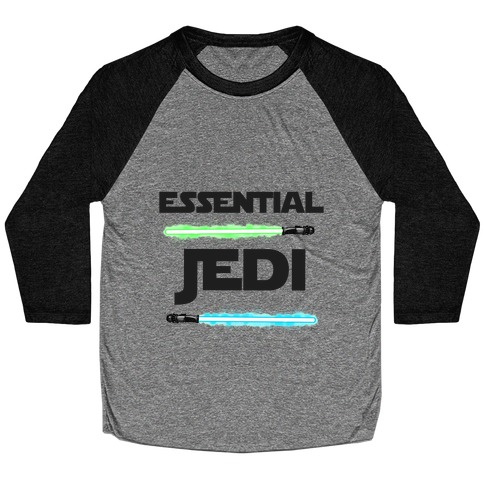 Essential Jedi Parody Lightsaber Baseball Tee