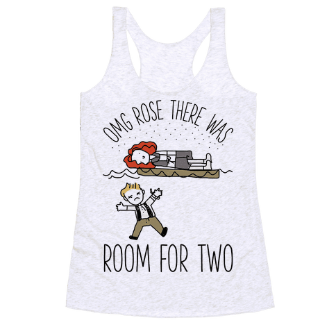 OMG Rose Racerback Tank Top